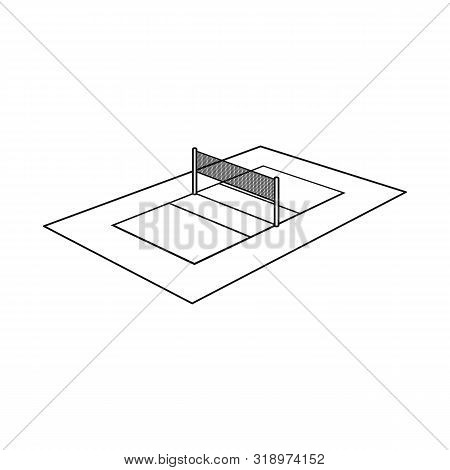 Isolated Object Of Volleyball And Field Icon. Collection Of Volleyball And Exercise Stock Vector Ill