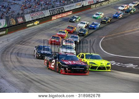 August 16, 2019 - Bristol, Tennessee, USA: Tyler Reddick (2) battles for position for the Food City 300 at Bristol Motor Speedway in Bristol, Tennessee.