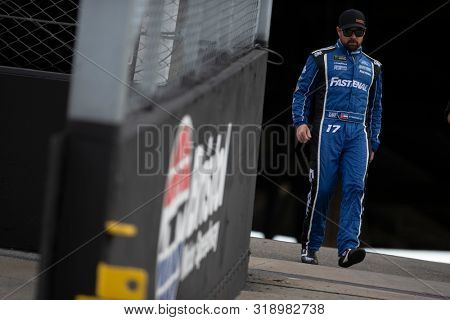 August 17, 2019 - Bristol, Tennessee, USA: Ricky Stenhouse, Jr (17) gets ready for the Bass Pro Shops NRA Night Race at Bristol Motor Speedway in Bristol, Tennessee.