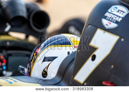 August 23, 2019 - Madison, Illinois, USA: MARCUS ERICSSON (7) of Kumla, Sweden  prepares to qualify for the Bommarito Automotive Group 500 at World Wide Technology Raceway in Madison, Illinois.