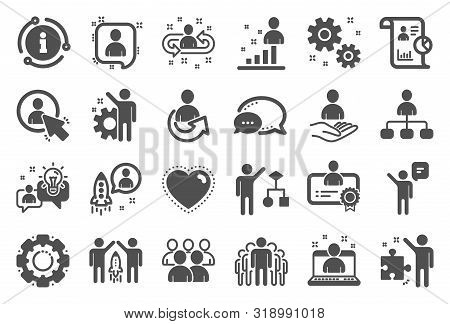 Management Icons. Set Of Business Audit, Startup Strategy And Employee Icons. Business Strategy, Sta