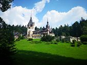 Peles Castle Romanian: Castelul Peles is a Neo-Renaissance castle in the Carpathian Mountains, near Sinaia, in Prahova County, Romania, on an existing medieval route linking Transylvania and Wallachia, built between 1873 and 1914. Its inauguration was hel poster