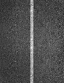 New asphalt texture with white line poster