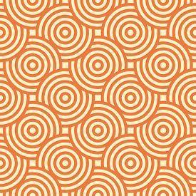 Vector Geometric Seamless Pattern Created With Intersect Circles. Abstract Repeating Tiles Pattern C