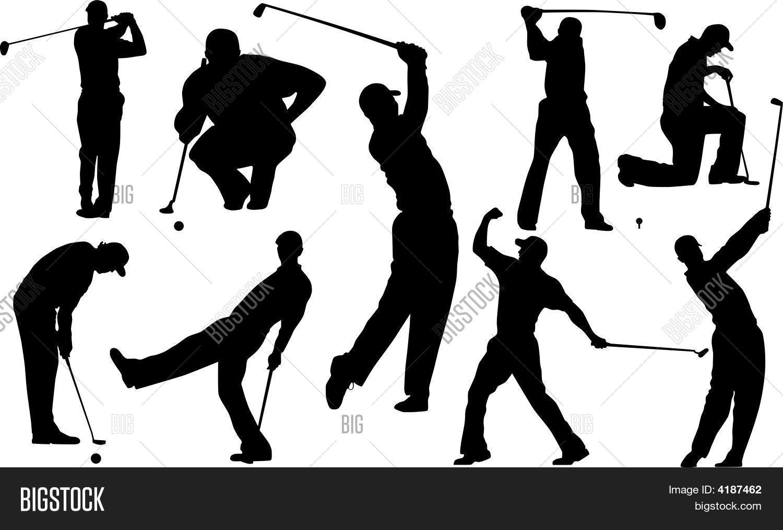 Golf Player Vector Photo Free Trial Bigstock