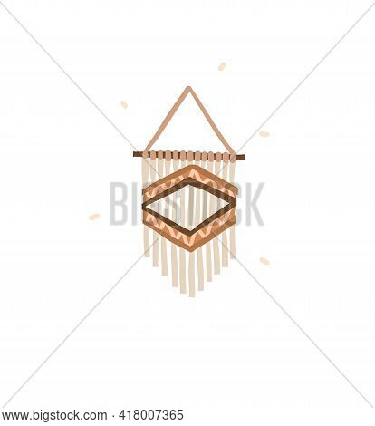 Hand Drawn Vector Abstract Stock Graphic Bohemian Clipart Illustration With Beauty Interior Design E