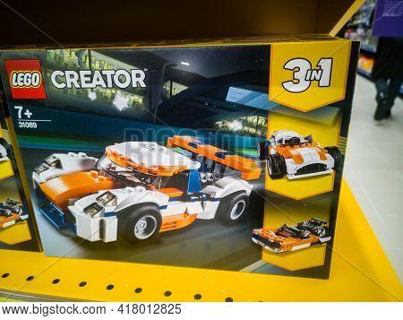 Lego Creator 31089 Orange Racing Car In The Hypermarket For Sale On 11.04. 2021 In Russia, Kazan, St
