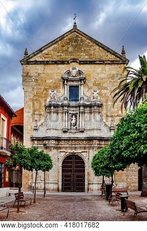 Facade San Francisco And Eulogio Church. Cordoba, Andalusia, Spain