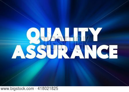 Quality Assurance - Text Quote, Concept Background