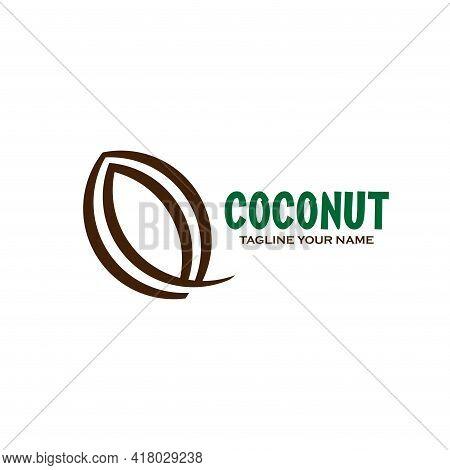 Coconut Design Logo Vector. Coconut Illustration Vector