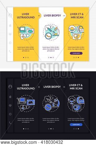 Liver Test Onboarding Vector Template. Responsive Mobile Website With Icons. Web Page Walkthrough 3
