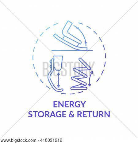 Energy Storage And Return Concept Icon. Advanced Prosthetic Components Idea Thin Line Illustration.