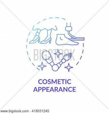 Cosmetic Appearance Concept Icon. Lower-limb Prostheses Idea Thin Line Illustration. Artificial Limb