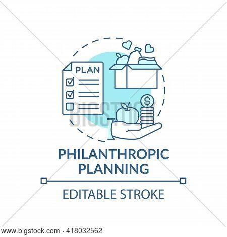 Philanthropic Planning Concept Icon. Wealth Advisory Idea Thin Line Illustration. Philanthropic Ende