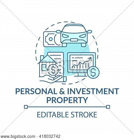 Personal And Investment Property Concept Icon. Comprehensive Wealth Plan Idea Thin Line Illustration