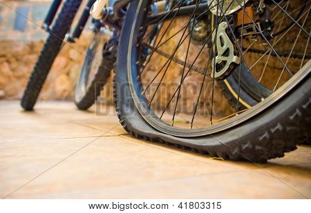 Bicycle Flat Tyre
