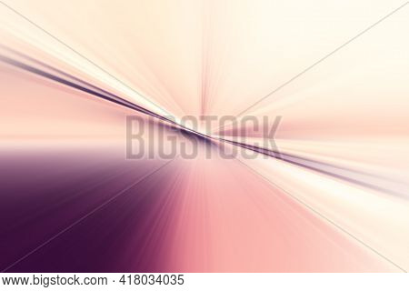 Abstract Radial Zoom Blur Surface Of Lilac, Pink And White Tones. Abstract Lilac Pink Background Wit