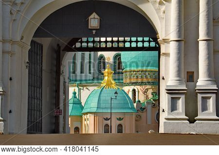 Istra, Russia, Moscow Region. October 09, 2018. The Gate Of The Main Entrance Of The Fortress Wall O