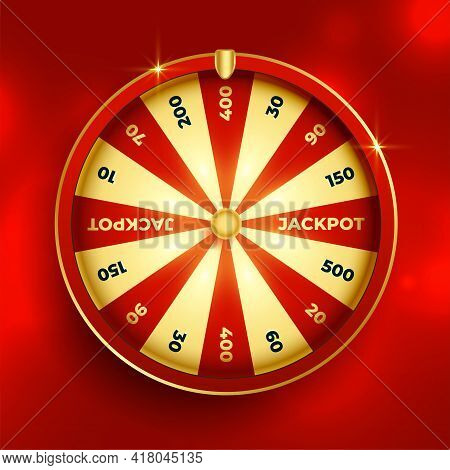 Fortune Wheel Lottery Luck Element Vector Template Design