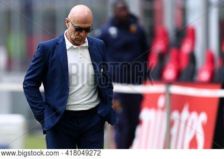 Milano, Italy. 18th April 2021. Davide Ballardini Of Genoa Cfc  During The Serie A Match Between Ac
