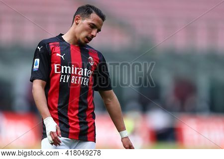 Milano, Italy. 18th April 2021. Ismael Bennacer Of Ac Milan  During The Serie A Match Between Ac Mil