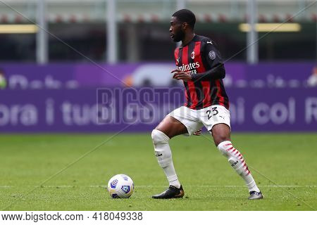 Milano, Italy. 18th April 2021. Frank Kessie Of Ac Milan  During The Serie A Match Between Ac Milan