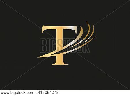 Elegant And Stylish T Logo Design For Your Company. T Letter Logo. T Logo For Luxury Branding.