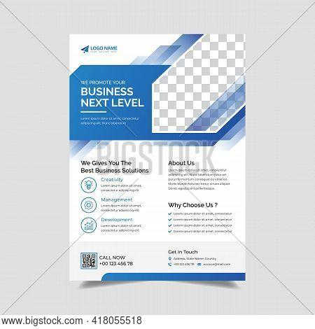 Corporate Flyer Design Template, Creative Business Trendy Flyer  Template Design, Vector Template Fl