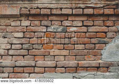 Brick Wall For Interior Exterior Decoration. For Industrial Construction Design. Brick Wall Texture/
