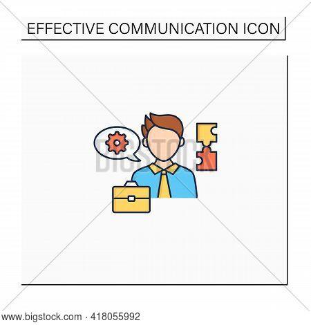 Ineffective Communication Color Icon. Using Technical Language. Professional Vocabulary. Communicati