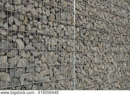 Strengthening Walls And Preventing Landslides. Urban Improvement. Modern Technologies In Constructio