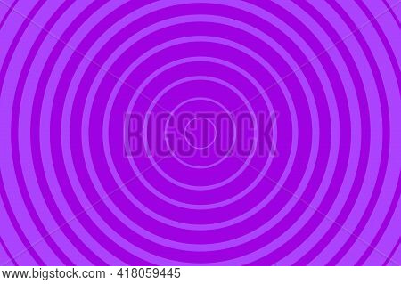 Purple Radiating Concentric Circle Pattern Background. Vibrant Radial Geometric Vector Illustration