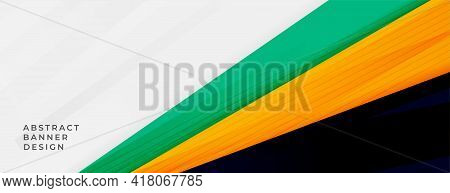 Abstract Wide Banner With Sporty Colors Design Vector Illustration