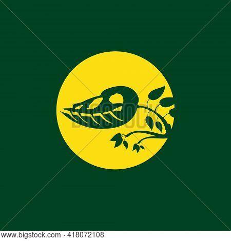 Prehistoric Plant As T-rex Shape In Creative Way Logo Vector Illustration