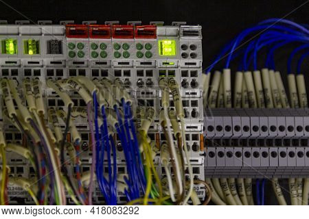 Terminal Of Control . Control Panel Assembly With Wire And Terminal Box, Ground Terminal,personal Ea