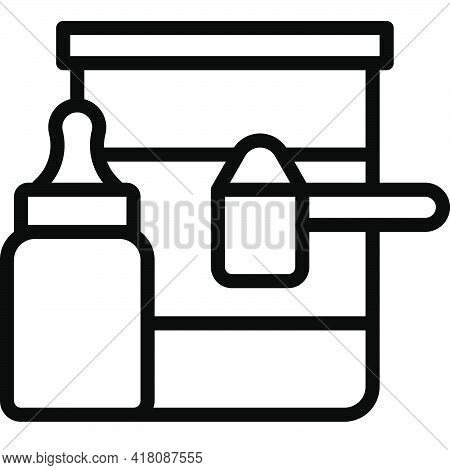 Infant Formula Icon, Supermarket And Shopping Mall Related Vector Illustration