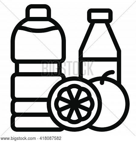 Juice And Vegetable Juice Icon, Supermarket And Shopping Mall Related Vector Illustration