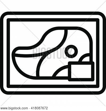 Meat Pack Icon, Supermarket And Shopping Mall Related Vector Illustration