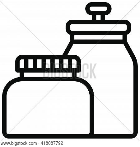 Bottle And Jar Icon, Supermarket And Shopping Mall Related Vector Illustration