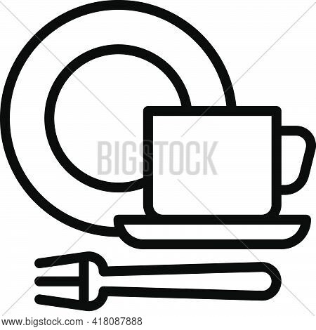 Tableware Icon, Supermarket And Shopping Mall Related Vector Illustration