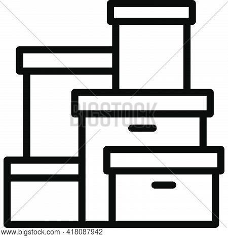 Box Icon, Supermarket And Shopping Mall Related Vector Illustration