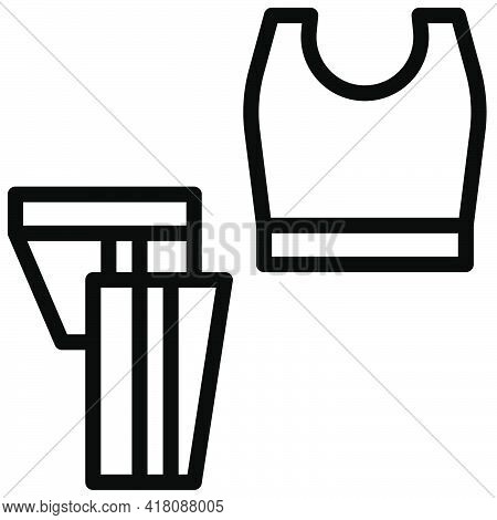 Sportswear Icon, Supermarket And Shopping Mall Related Vector Illustration