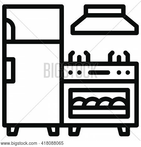 Home Appliance Icon, Supermarket And Shopping Mall Related Vector Illustration