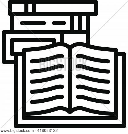 Books Icon, Supermarket And Shopping Mall Related Vector Illustration