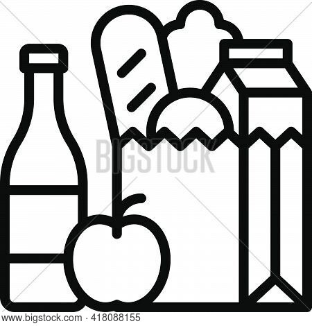 Grocery Bag Icon, Supermarket And Shopping Mall Related Vector Illustration