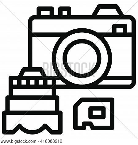 Camera Icon, Supermarket And Shopping Mall Related Vector Illustration