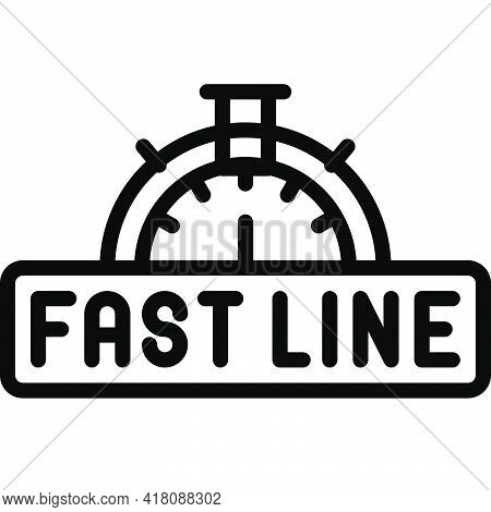 Fast Lane Icon, Supermarket And Shopping Mall Related Vector Illustration