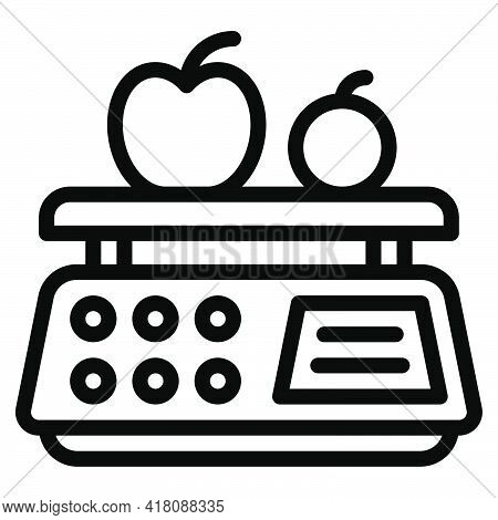 Digital Scale Icon, Supermarket And Shopping Mall Related Vector Illustration