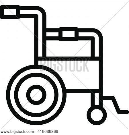 Wheelchair Icon, Supermarket And Shopping Mall Related Vector Illustration