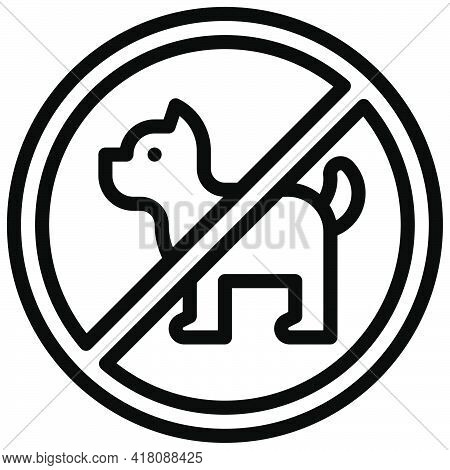 No Pet Allowed Sign Icon, Supermarket And Shopping Mall Related Vector Illustration